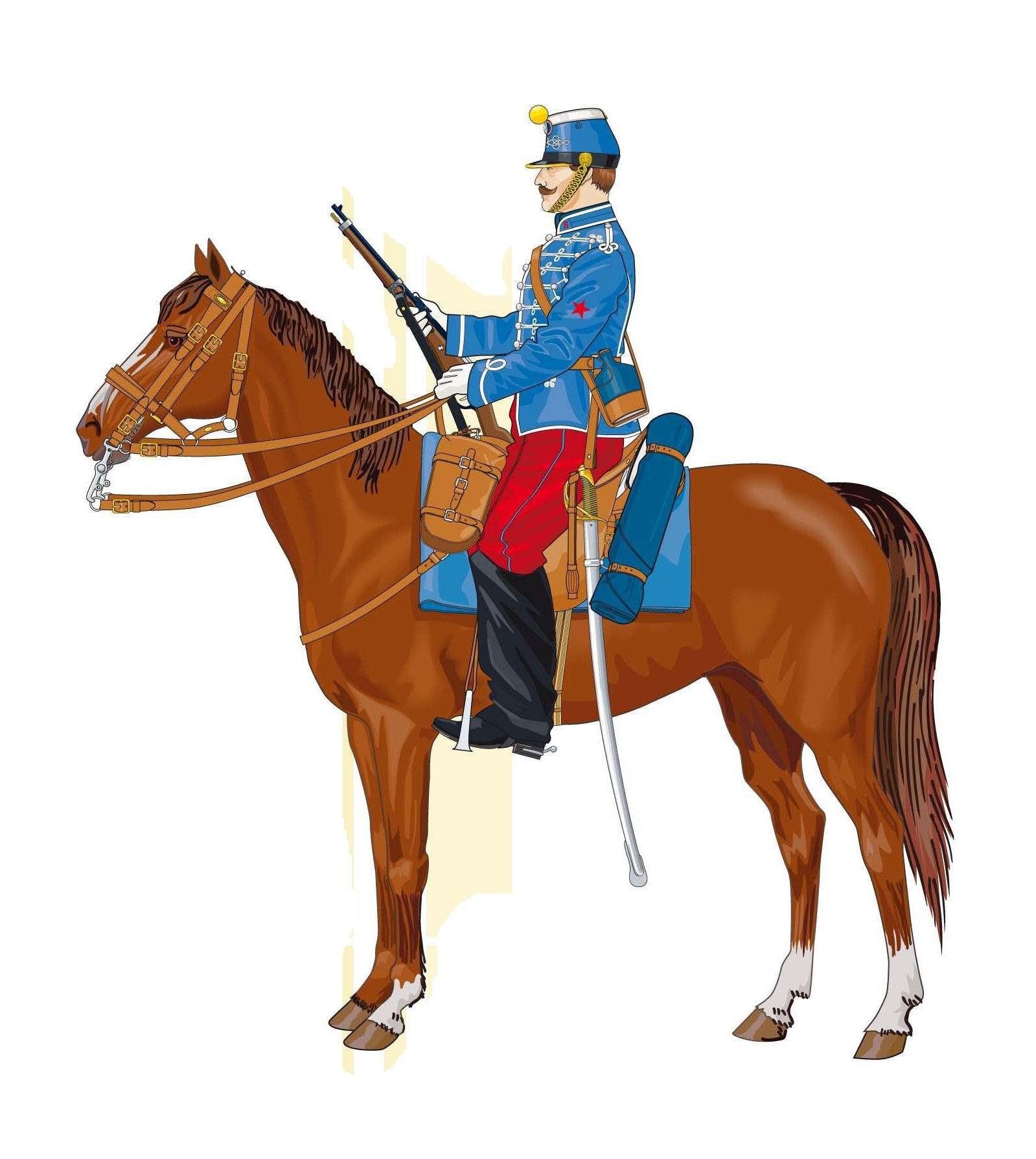 VOEUX hussard-cheval-1890